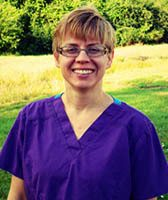 Dr. Heather Carlson at animal hospital in Sioux Falls