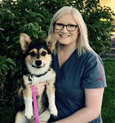 Team member Laura at All City Pet Care Veterinary Emergency Hospital