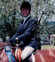 Sue on a horse in Alachua