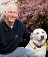Dr. Denny Christman at animal hospital in Port Orchard