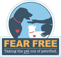 Fear Free logo at Kitsap Veterinary Hospital