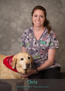 Chris vet tech at Friendship Hospital for Animals