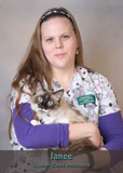 Janee client care provider at Friendship Hospital for Animals