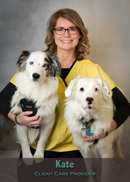 Kate client care provider at Friendship Hospital for Animals