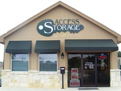 Self Storage Exterior in Boerne, TX at Access Storage.