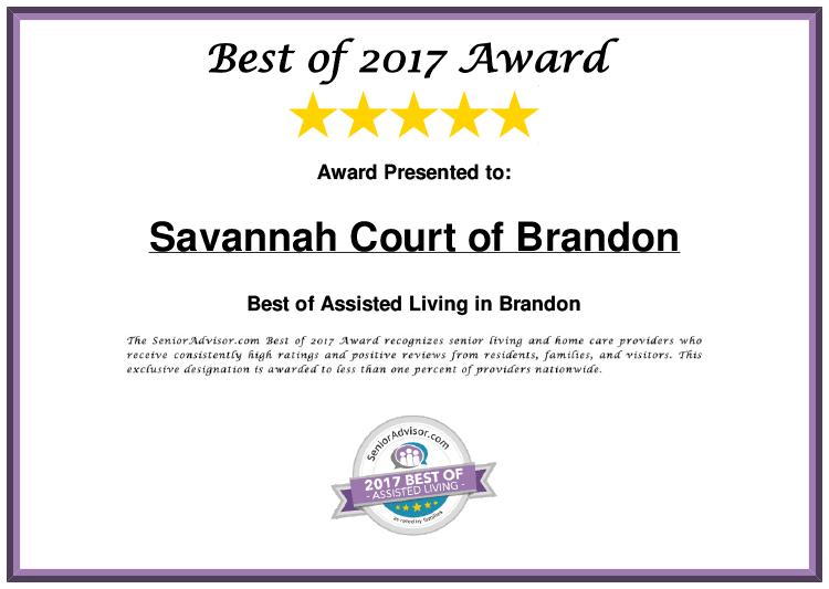 Savannah Court of Brandon Best of 2017