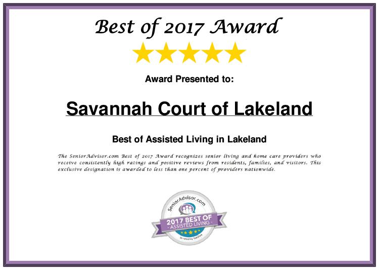 Savannah Court of Lakeland Best of 2017