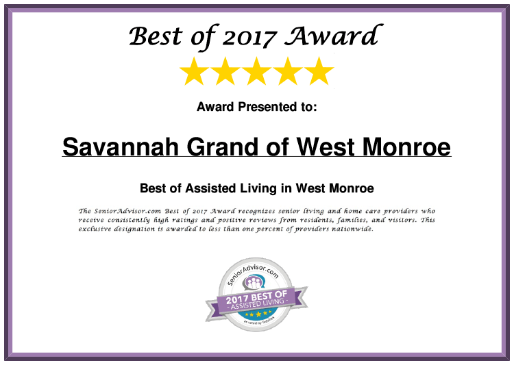 Savannah Grand of West Monroe Best of 2017