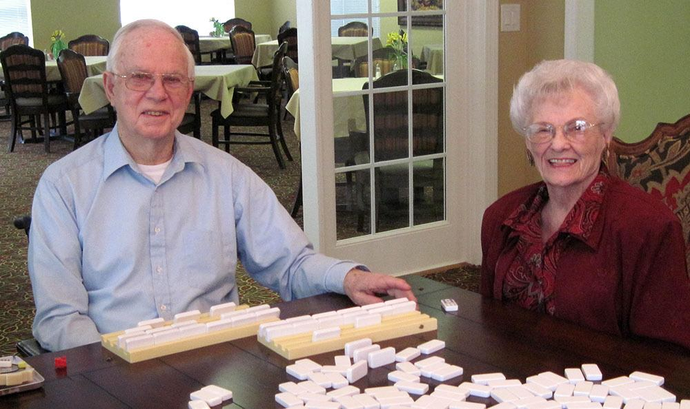 Bartow couple playing a game