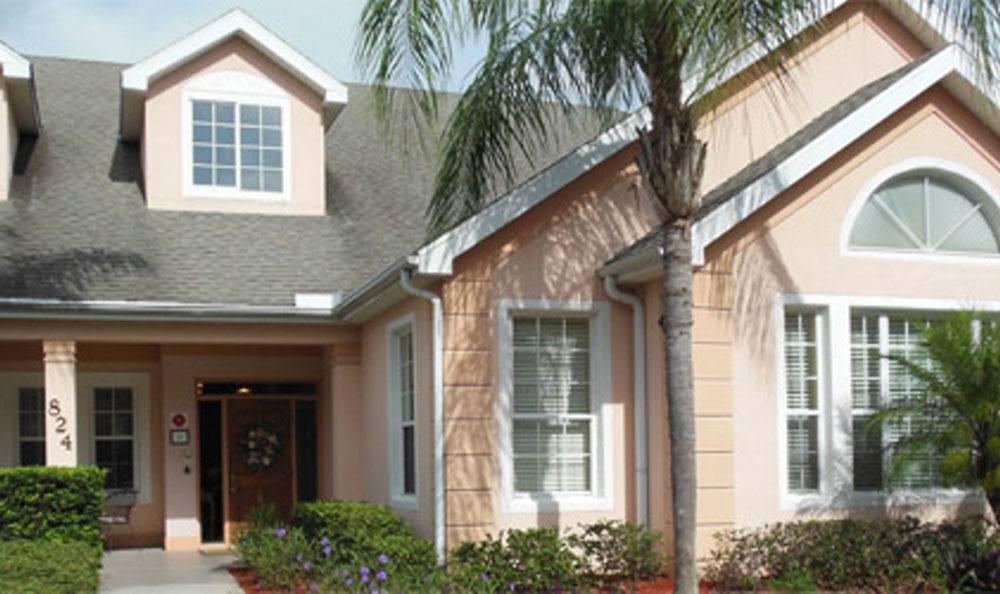 Entrance to senior living in Brandon