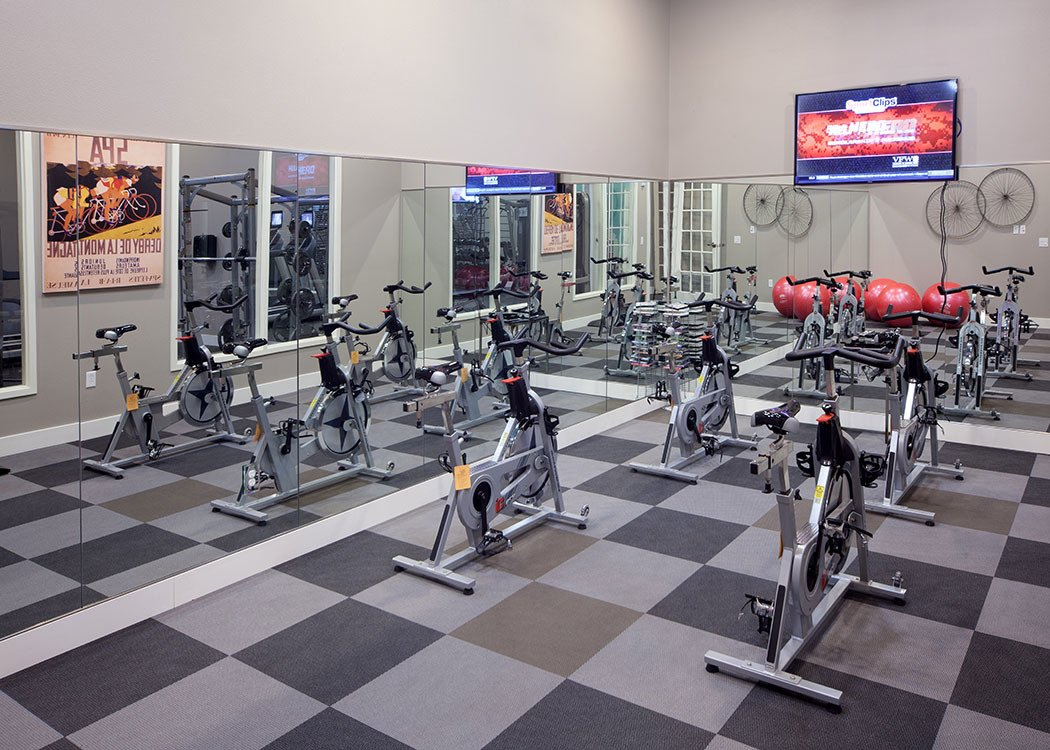 An on-site fitness center is offered to all residents for convenience at Skye at Arbor Lakes in Maple Grove, MN.