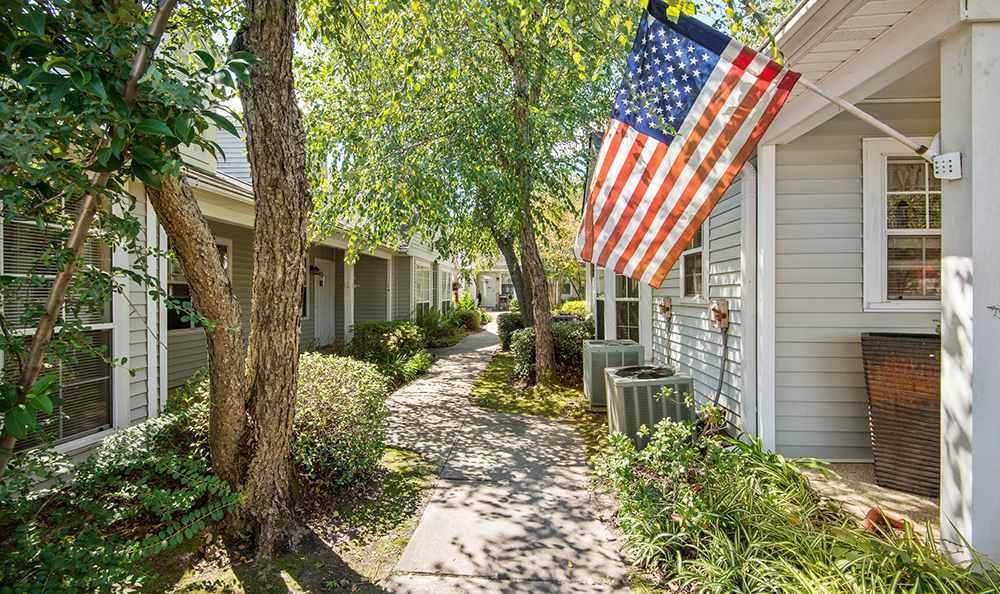 Walkway at the Senior Living community in Baton Rouge