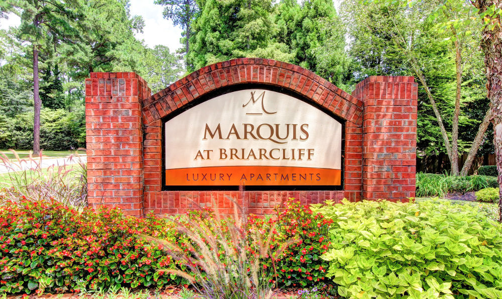 Monument Sign at Marquis at Briarcliff in Atlanta, GA