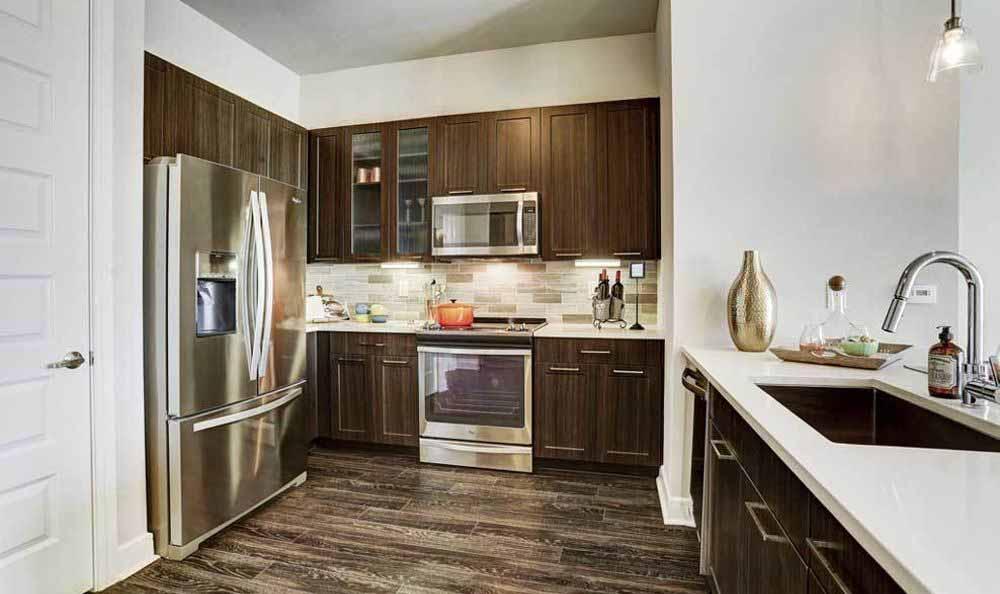 hard-wood kitchens at Marq 31