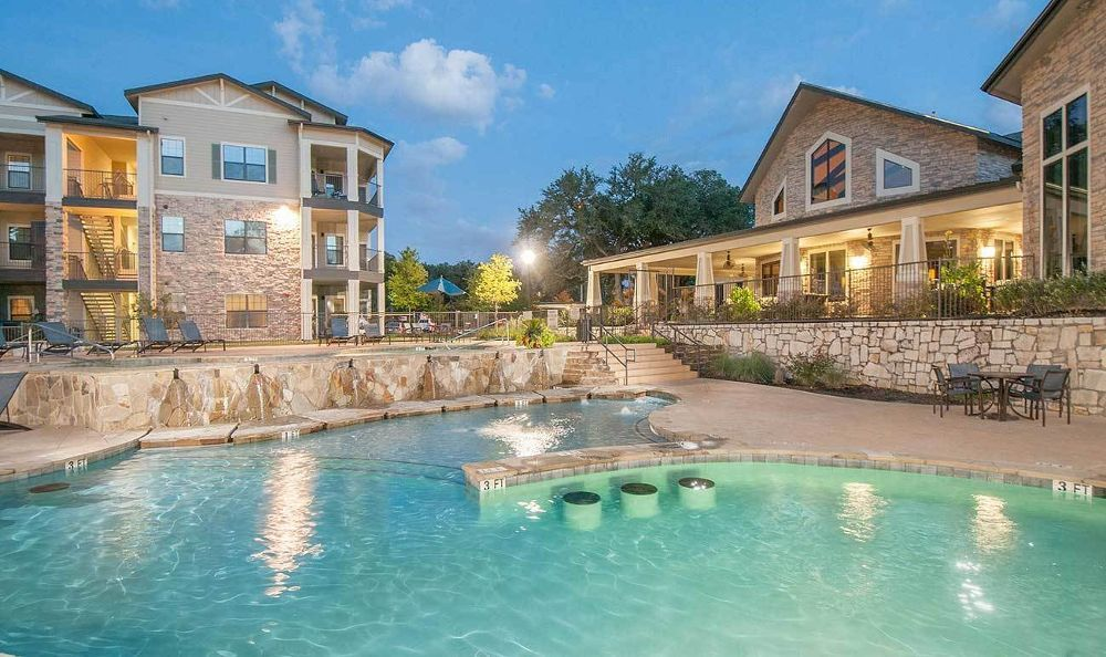 luxurious apartments with swimming pool at Marquis on Lakeline in Cedar Park, TX