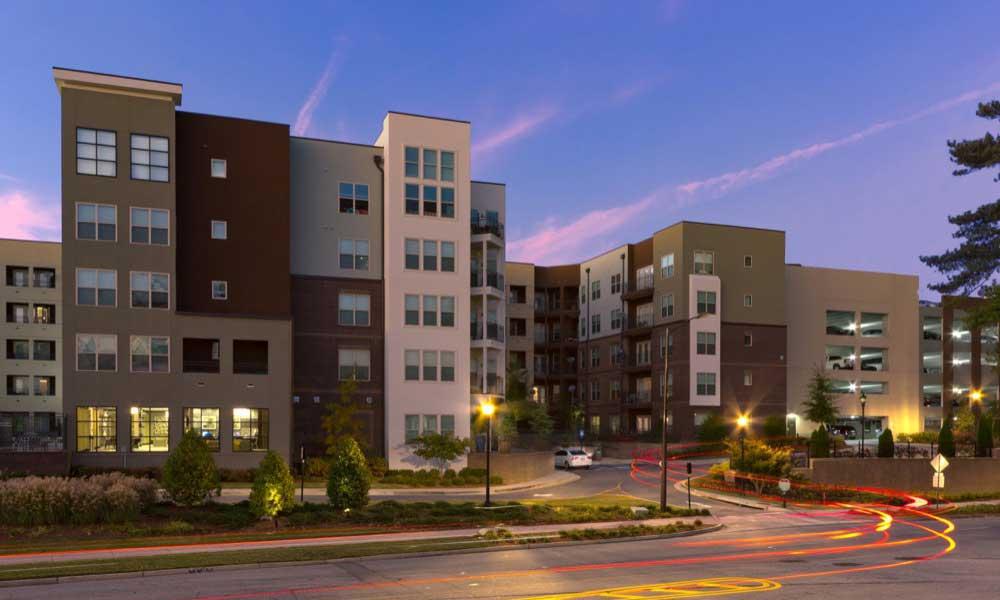 Apartment Building Exterior at Marq Eight in Atlanta, GA