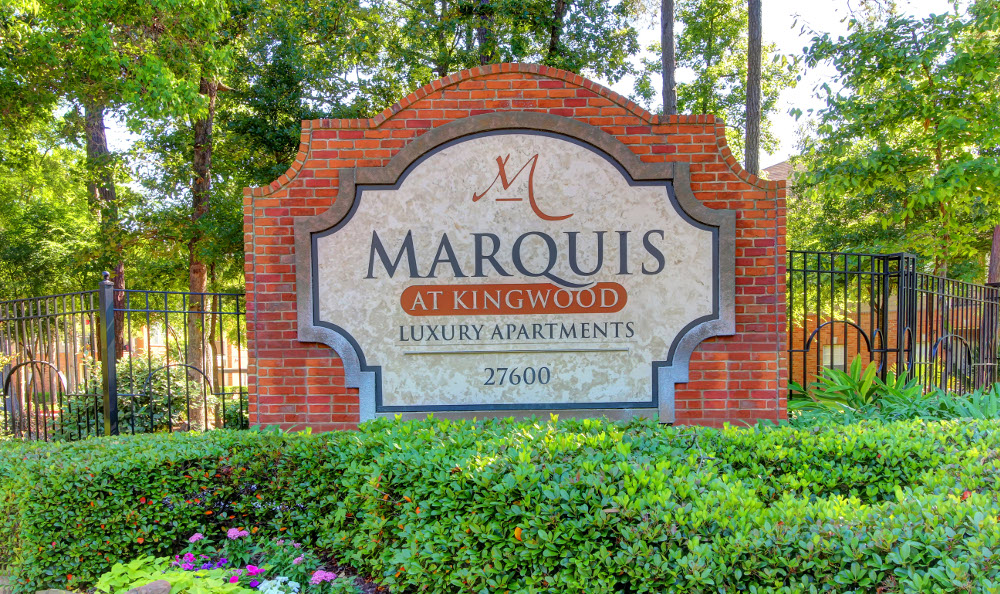 The Entrance sign at Marquis at Kingwood in Kingwood, Marquis at Kingwood