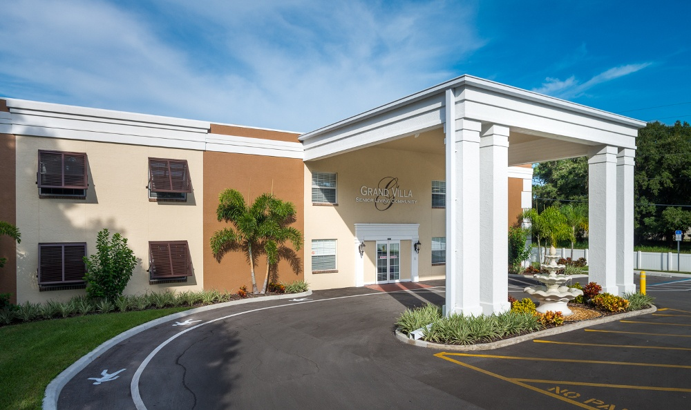Front Of Our Senior Living Community In Pinellas Park