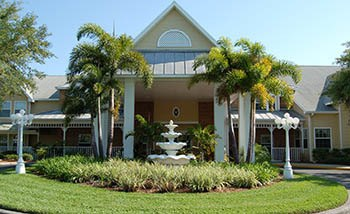 Our wonderful community here at Grand Villa of Largo is stunning in the evening!