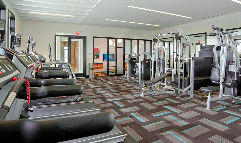 Take the stress of the day away in our fitness center at The Morgan