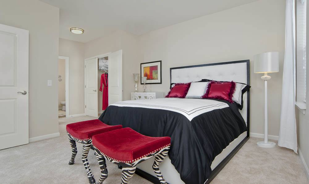 Enjoy stylish bedrooms at  The Morgan in Chesapeake, VA