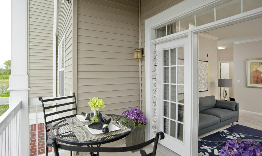 Enjoy a meal on your new deck The Morgan in Chesapeake, VA