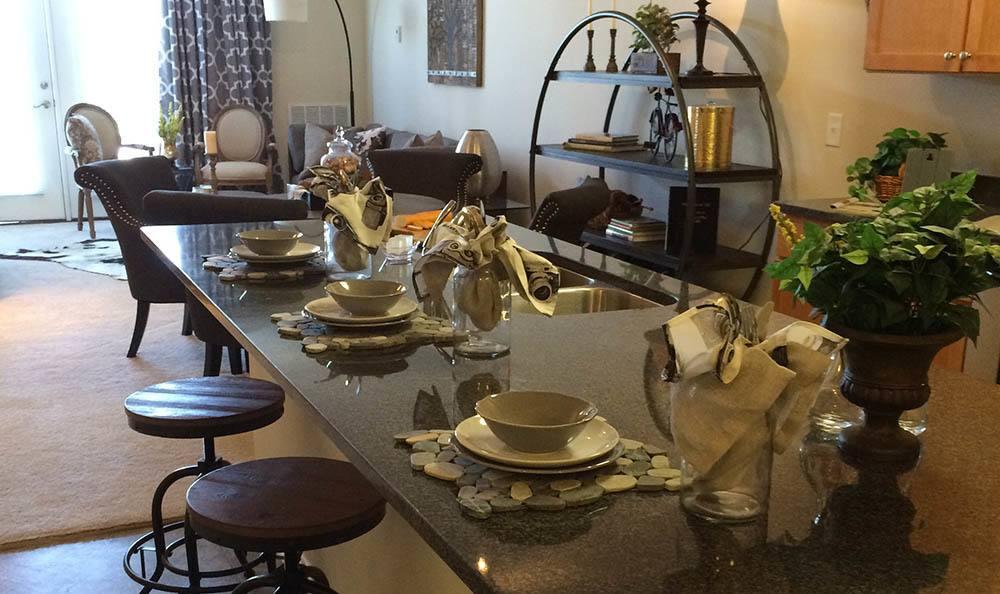 Enjoy breakfast at your own granite breakfast bar at The Morgan