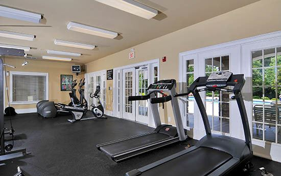 Exercise studio at apartments in Buford