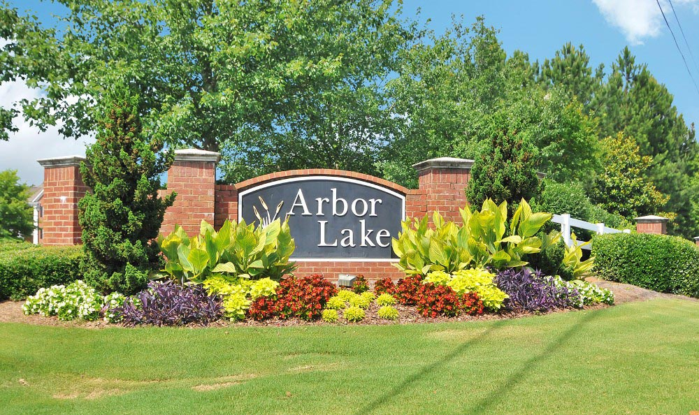 Enjoy the flowers at Arbor Lake Apartments