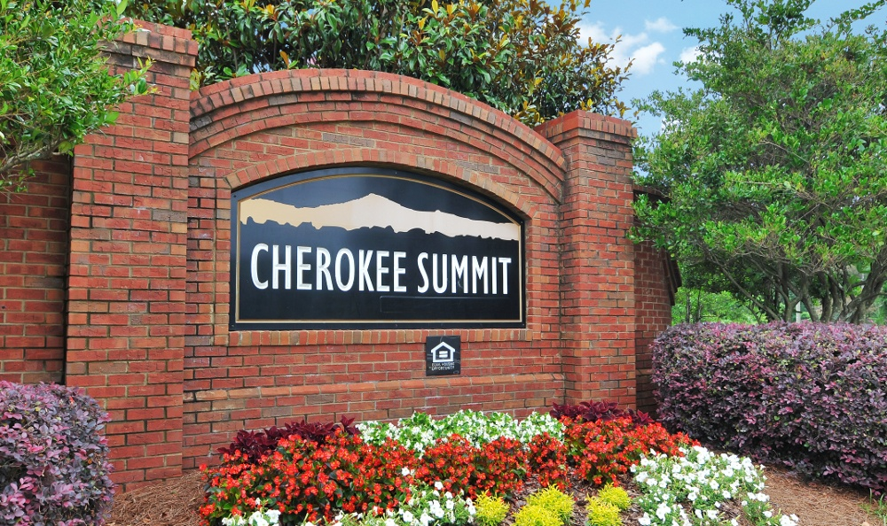 Enjoy the flowers at Cherokee Summit Apartments