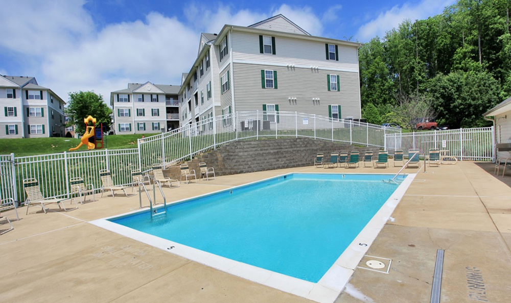 Resort style pool at England Run North Apartments