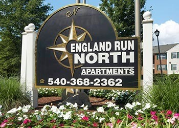 Enjoy the flowers at England Run North Apartments