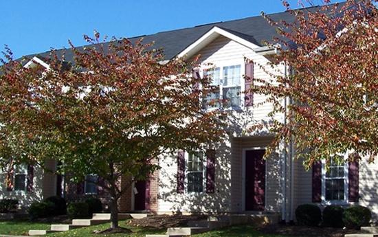 Exterior of our apartments in Fredericksburg, VA