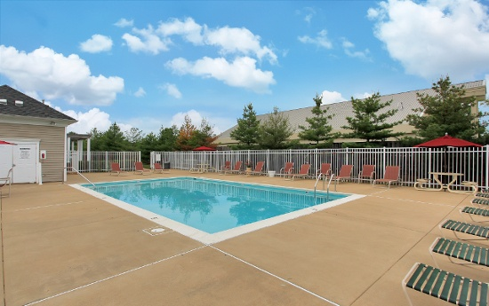 Swimming pool at our apartments in Fredericksburg, VA