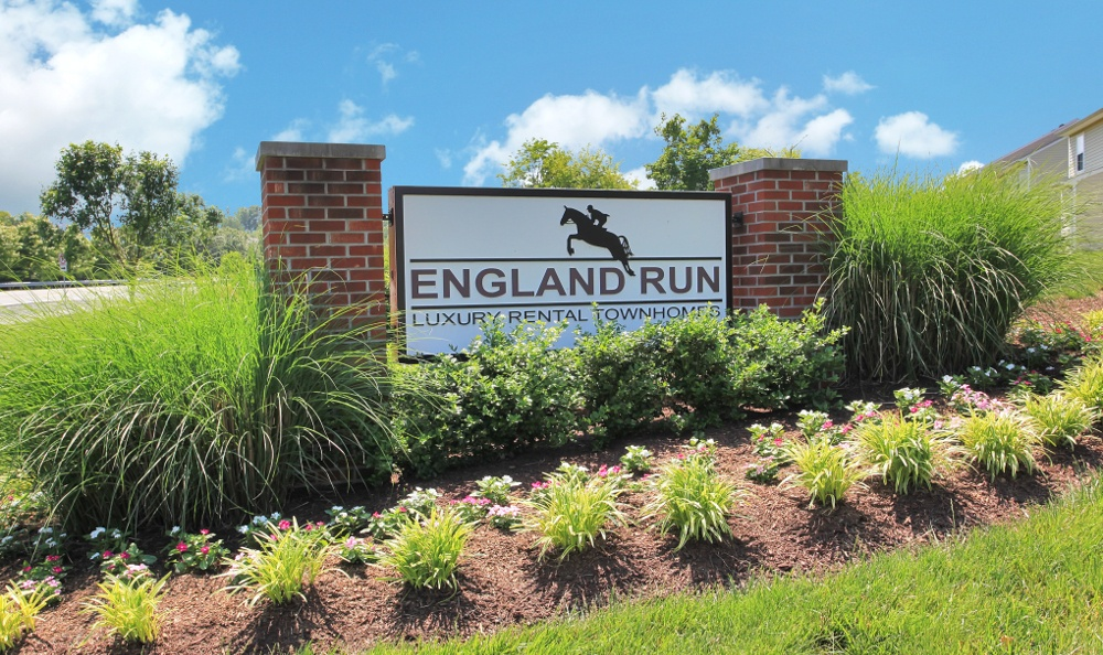 Our monument here at England Run Townhomes apartments