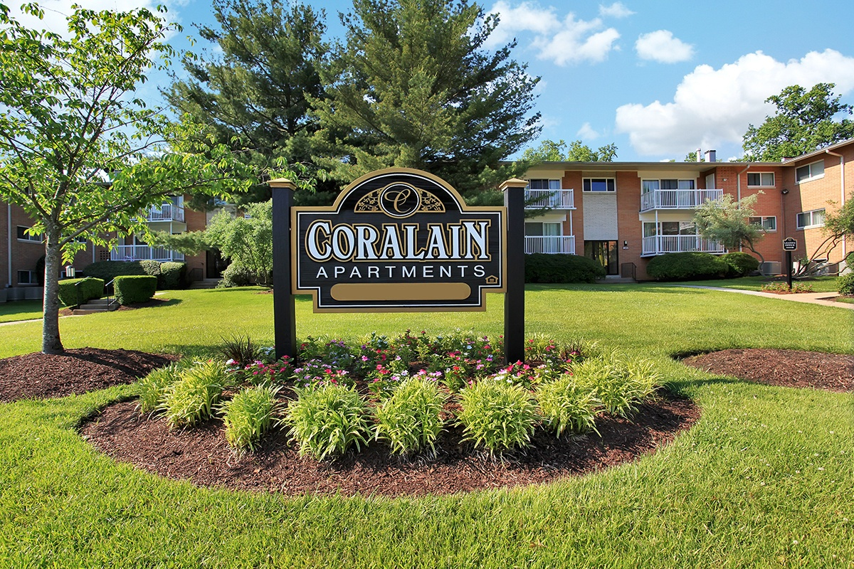 Coralain Gardens Apartments Signage in Falls Church, VA