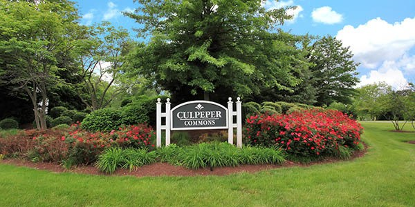 The entrance to Culpeper Commons is beautiful