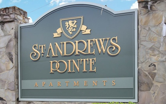 St. Andrews Pointe welcome sign in Columbia, SC