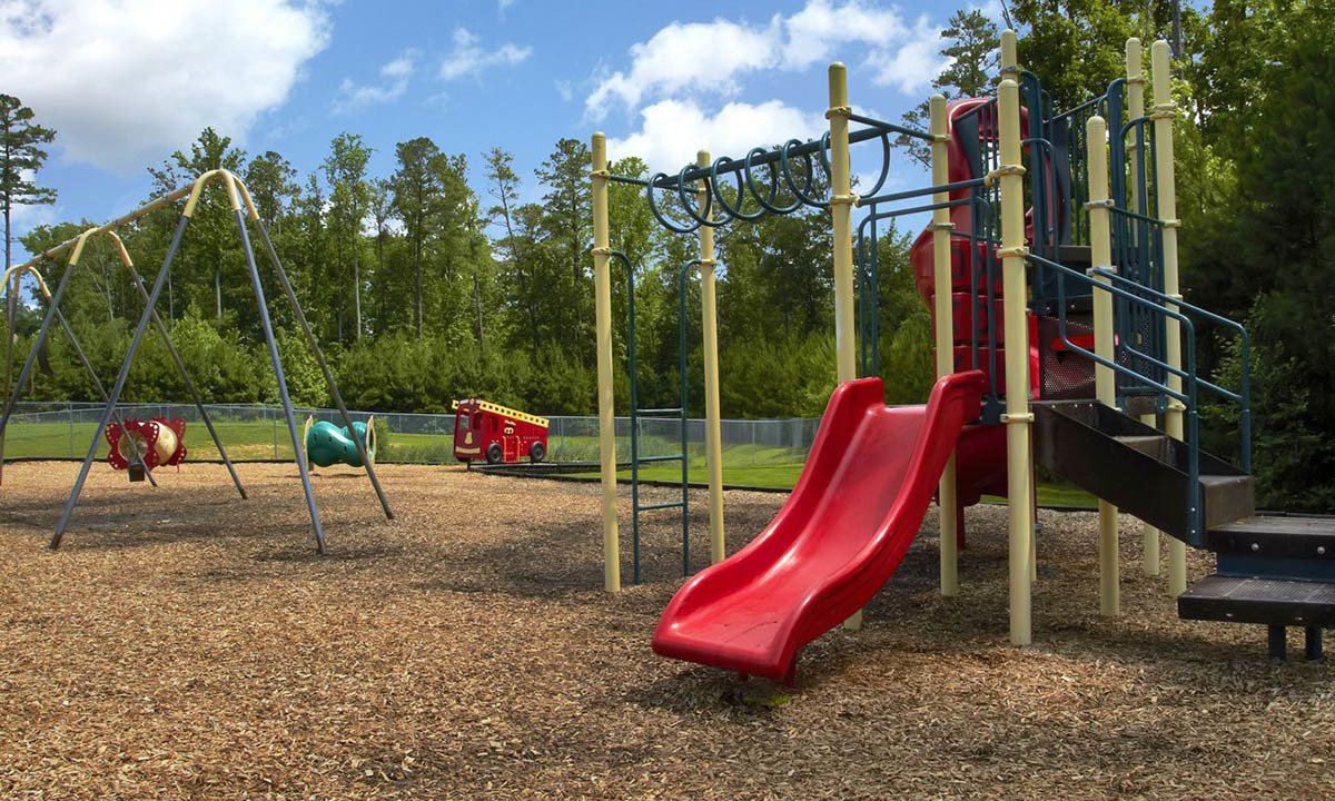 Broadwater Townhomes Slide On Playground in Chester, VA