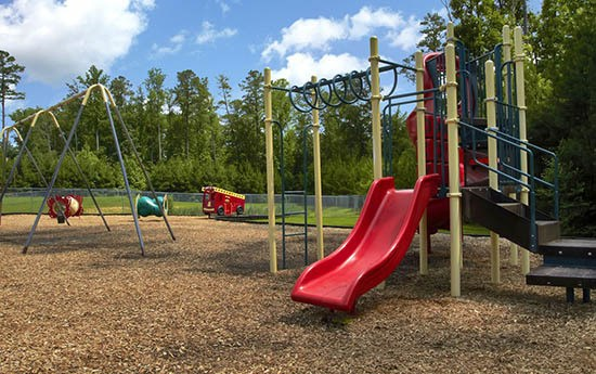 Playground equipment at Broadwater Townhomes