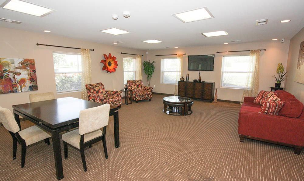 Community seating area at Villas at Lakewood