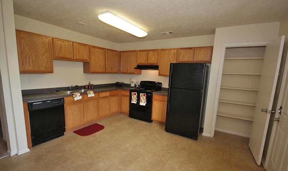 Kitchen area at Villas at Lakewood in Atlanta, GA