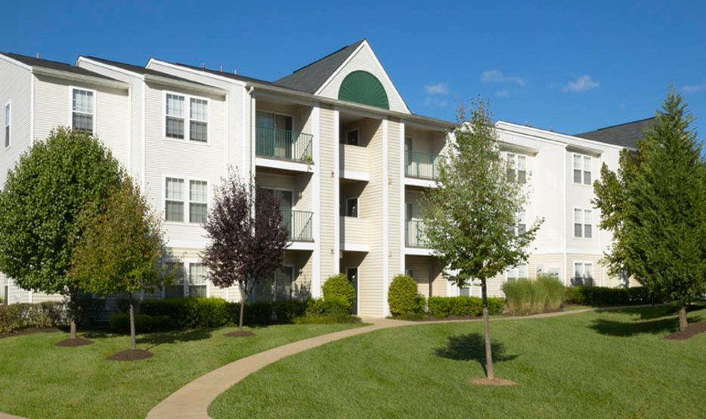 Exterior of apartments for rent at Glen Ridge Commons