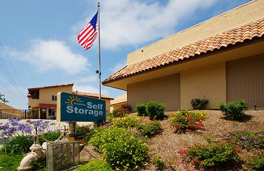 Front of office for Encinitas Self Storage