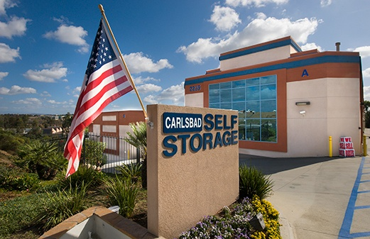 Carlsbad Self Storage front of office