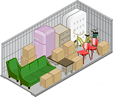 10x15 storage unit offered at MiniStorage
