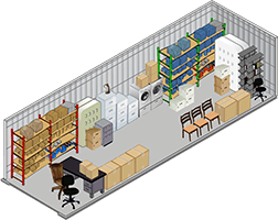 10x20 storage unit at MiniStorage