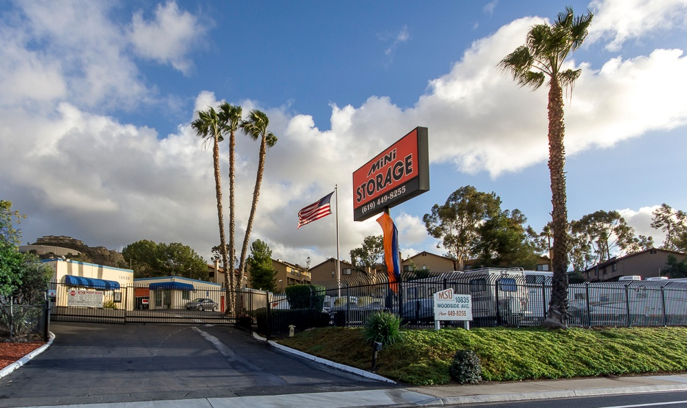 Front of our storage facility in Santee