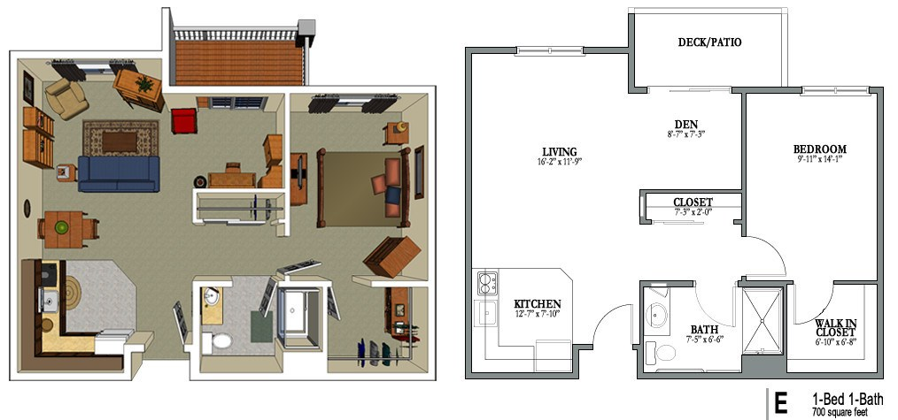 700 sq ft house plans numberedtype for Home design 700 sq ft