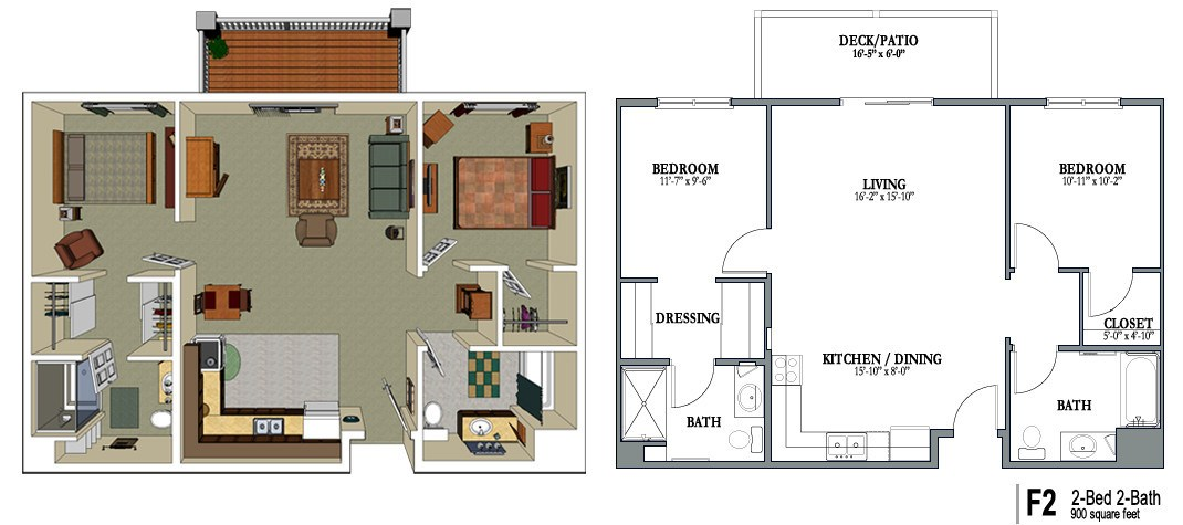Senior Living Floor Plans | Crestview Senior Living